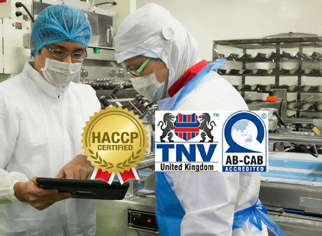 Quá trình đánh giá chứng nhận HACCP