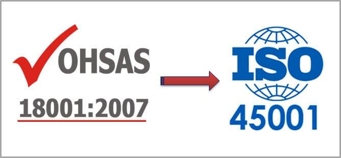 SO SÁNH SỰ KHÁC NHAU GIỮA ISO 45001 VỚI OHSAS 18001