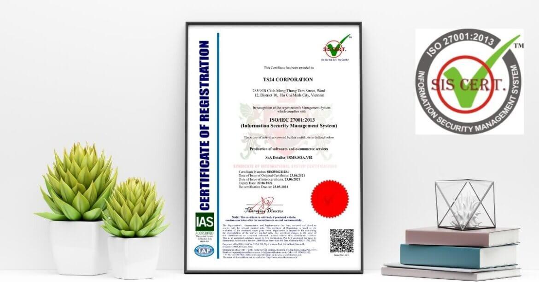 CÔNG TY CỔ PHẦN TS24 đạt giấy chứng nhận ISO/IEC 27001:2013