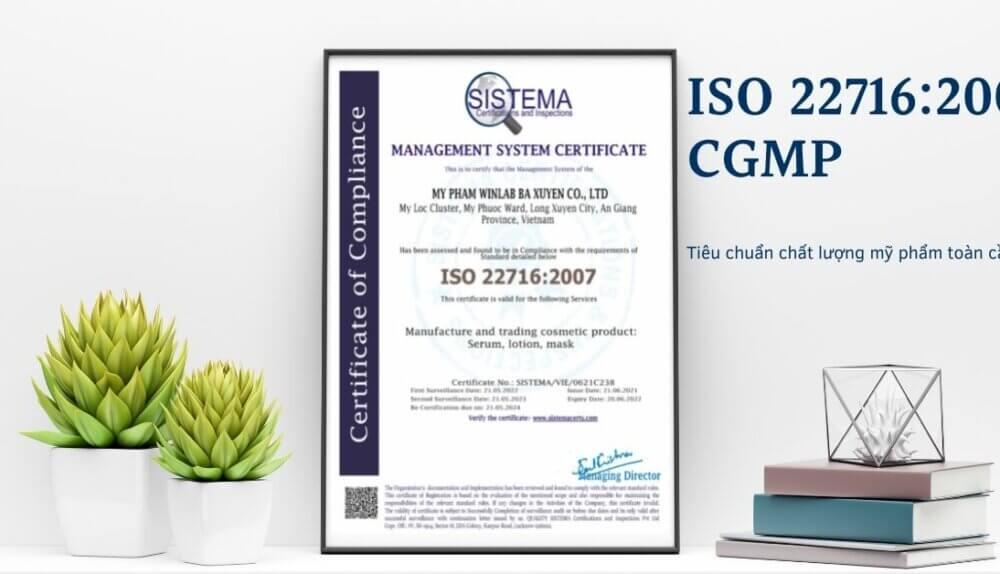 Hình chứng chỉ ISO 22716