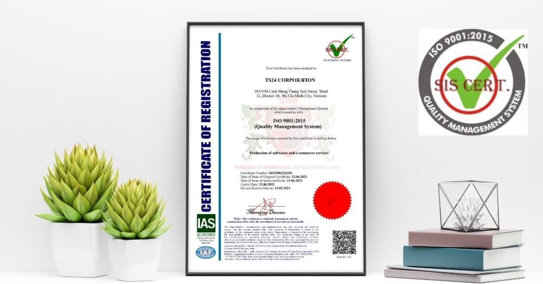 CÔNG TY CỔ PHẦN TS24 đạt giấy chứng nhận ISO 9001:2015