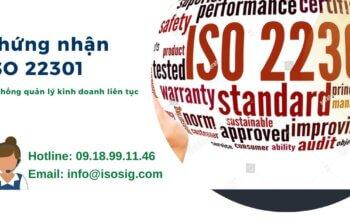 chứng nhận ISO 22301