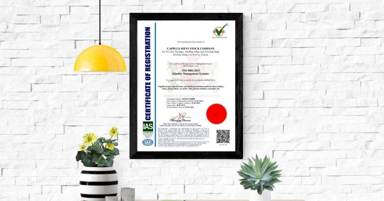 CÔNG TY CỔ PHẦN CAPPLUS đạt giấy chứng nhận ISO 9001:2015, ISO 14001:2015, ISO 45001:2018 và ISO/IEC 27001:2013