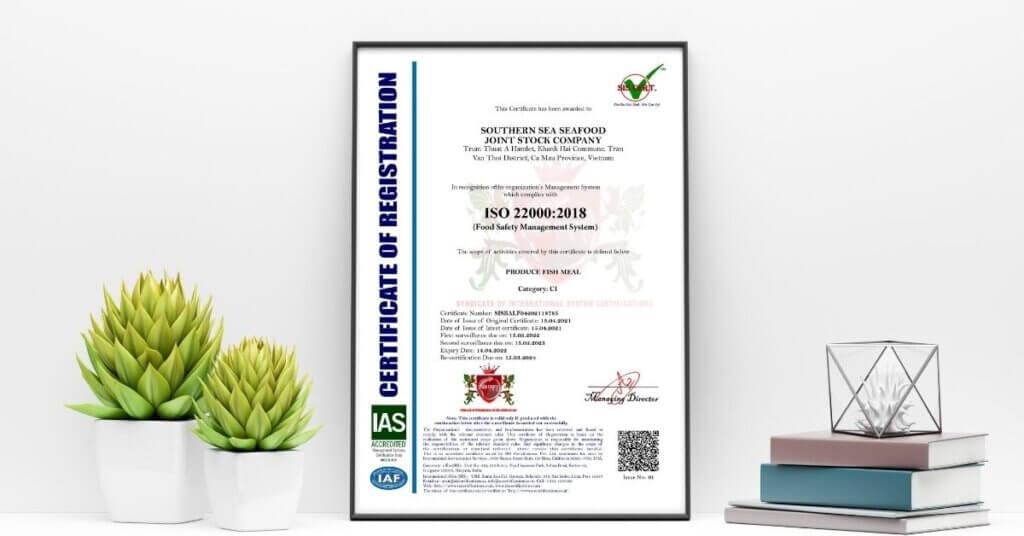 Giấy chứng nhận ISO 22000