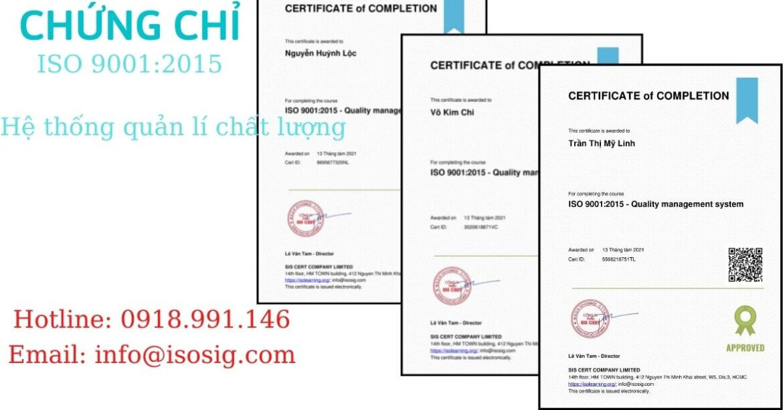 SIS CERT THỰC HIỆN ĐÀO TẠO ISO 9001:2015 CHO CÔNG TY TNHH JCONNECT