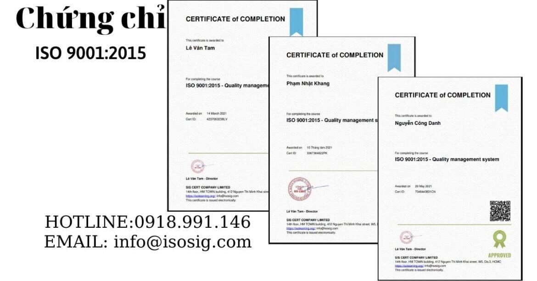 SIS CERT THỰC HIỆN ĐÀO TẠO ISO 9001:2015 CHO CÔNG TY CỔ PHẦN ĐẦU TƯ NGÔI SAO ĐỎ