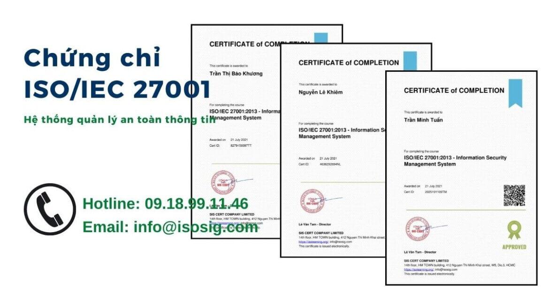 SIS CERT THỰC HIỆN ĐÀO TẠO ISO/IEC 27001:2013 CHO CÔNG TY TNHH THƯƠNG MẠI DỊCH VỤ SAIGONLAB