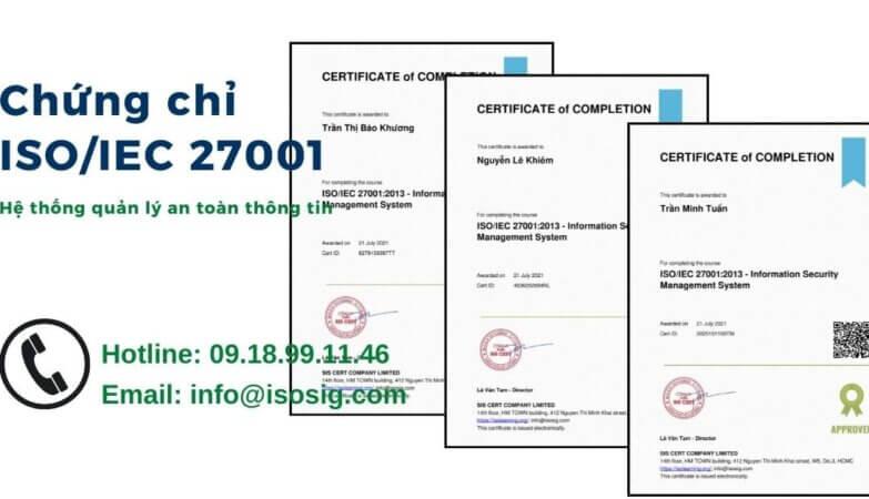 ĐÀO TẠO ISO 27001