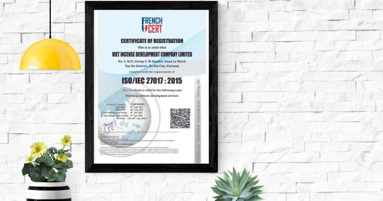 CÔNG TY TNHH PHÁT TRIỂN HƯƠNG VIỆT đạt giấy chứng nhận ISO 9001:2015, ISO/IEC 27001:2013 và ISO/IEC 27017:2015