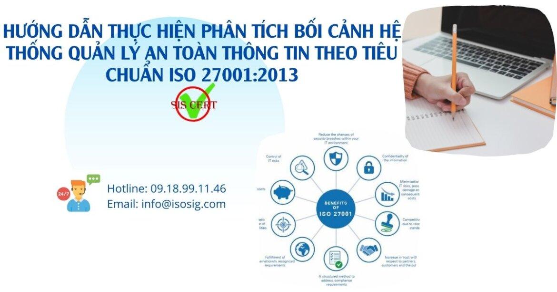 HƯỚNG DẪN THỰC HIỆN PHÂN TÍCH BỐI CẢNH TỔ CHỨC HỆ THỐNG QUẢN LÝ AN TOÀN THÔNG TIN THEO TIÊU CHUẨN ISO 27001:2013
