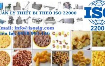QUẢN LÝ THIẾT BỊ THEO ISO 22000