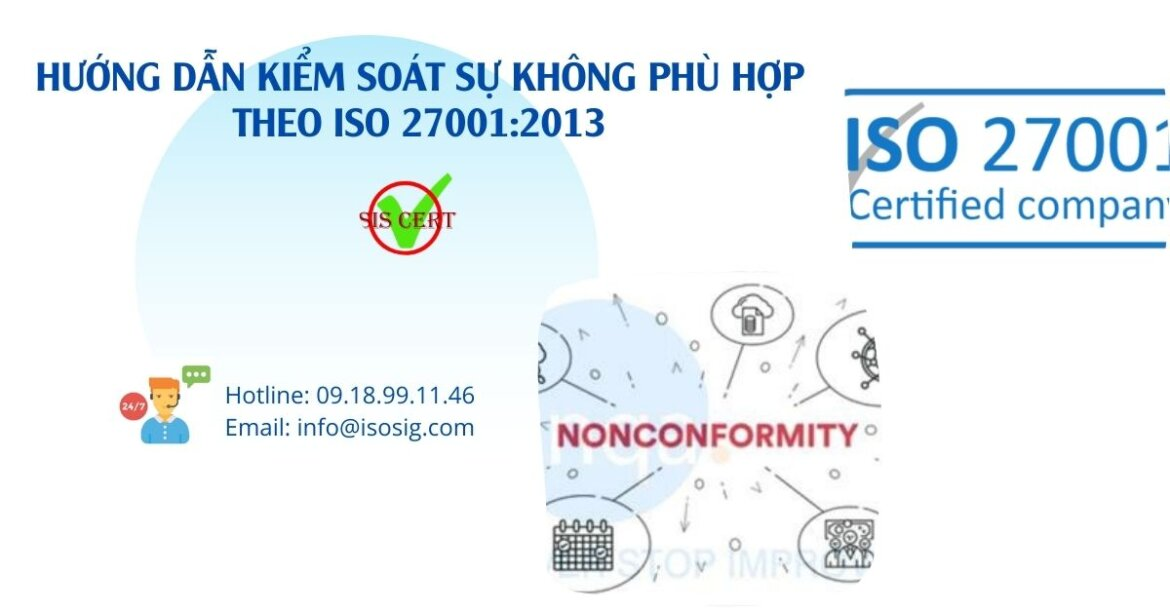 HƯỚNG DẪN KIỂM SOÁT SỰ KHÔNG PHÙ HỢP THEO ISO 27001:2013